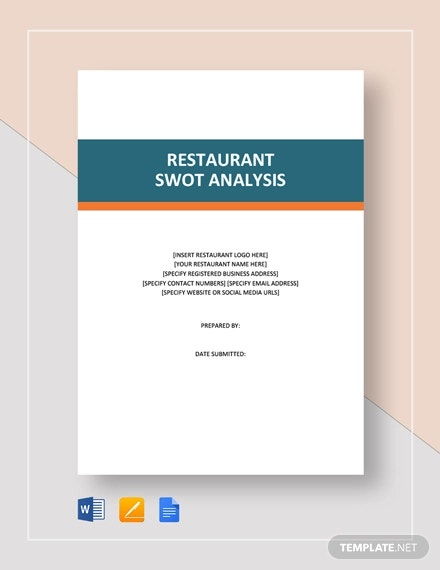 restaurant swot analysis template3