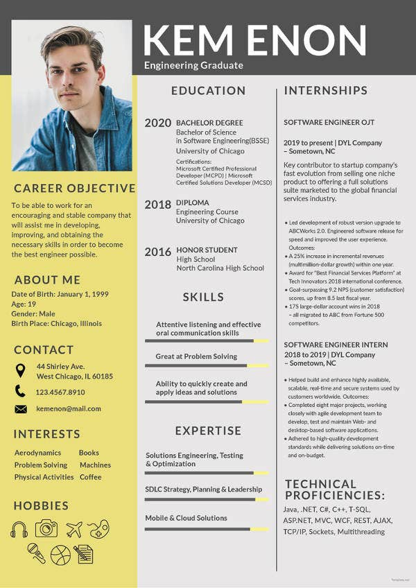 resume format for engineering freshers2