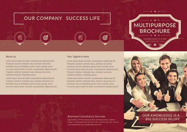 Retro Trifold Brochure Template