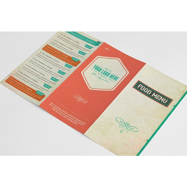 retro and fancy menu template