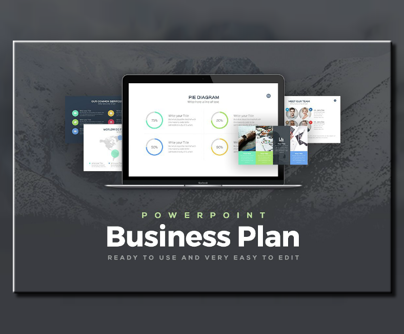 rocket business plan powerpoint template 788x650