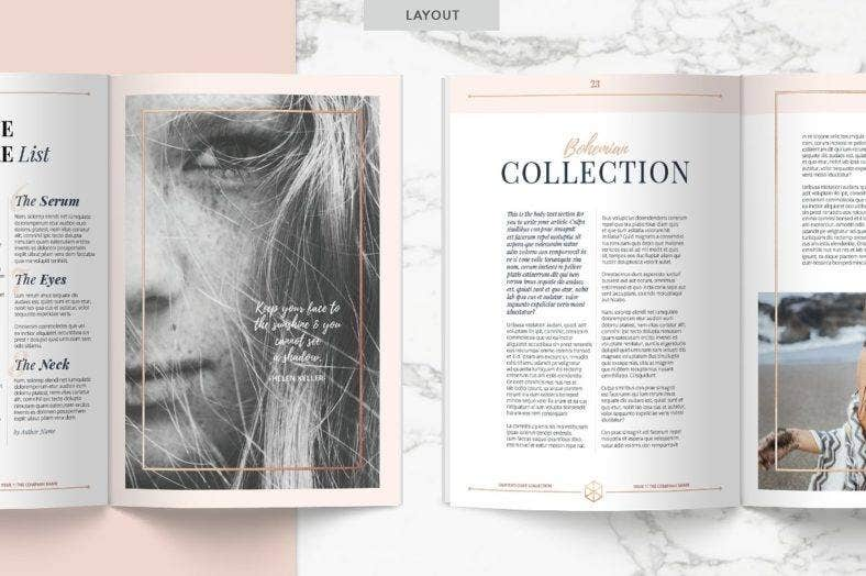 rose-gold-simple-magazine-template