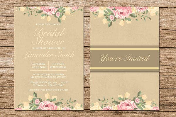 Rustic Bridal Shower Invitation Design