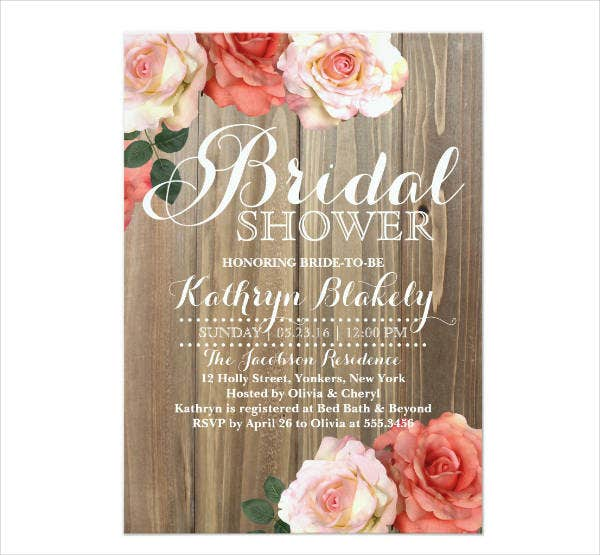 13 Rustic Bridal Shower Invitation Card Designs