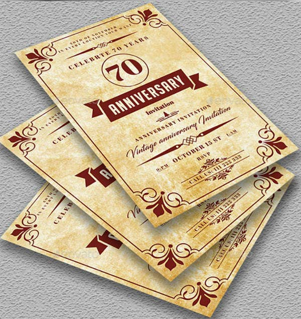Rustic Wedding Anniversary Invitation Card