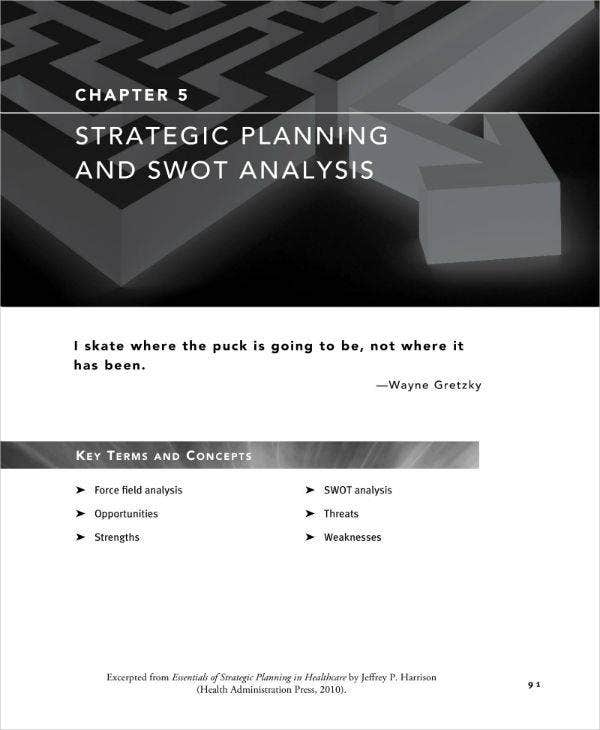 SWOT Analysis & Strategic Planning