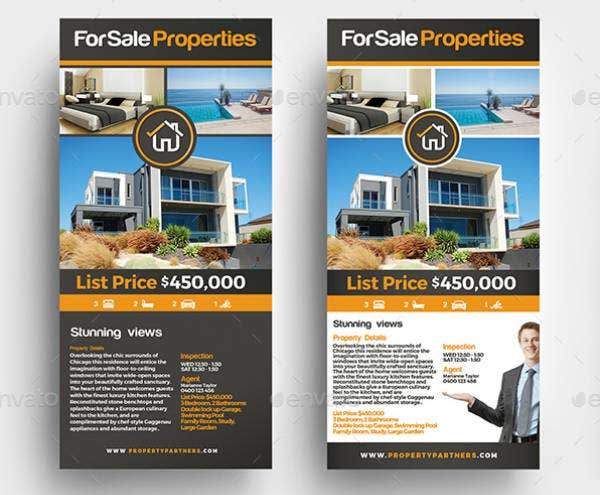 Sale Properties Real Estate Rack Card