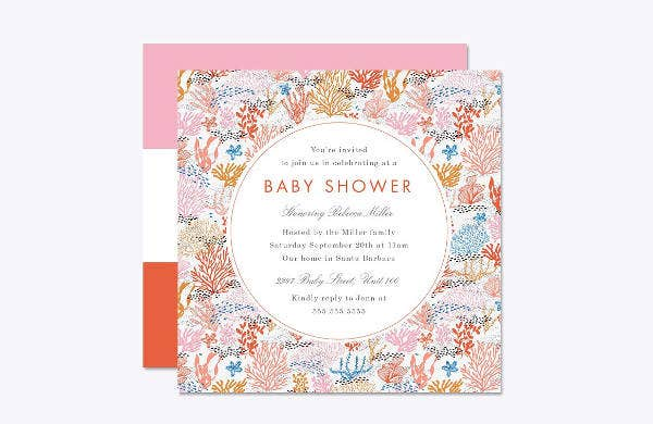 Sample Baby Shower Card Template
