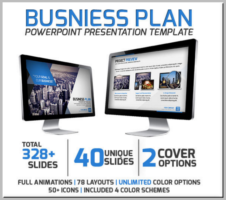 sample business plan powerpoint template 788x698