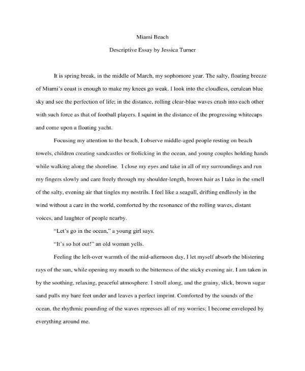 Sample Description Essay