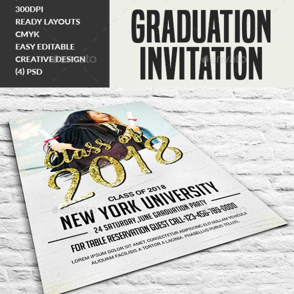 Sample Graduation Ceremony Invitation