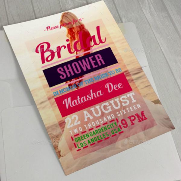 Sample Modern Style Bridal Shower Card