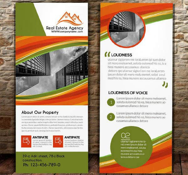 Sample Real Estate Agency Rack Card