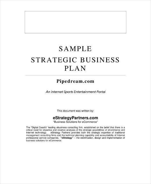 sample strategic business plan1