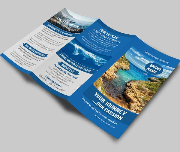 Sample Travel Trifold Brochure Design