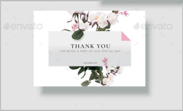 sample wedding thank you card