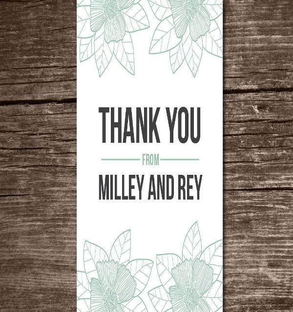 Save The Date Thank You Card Design