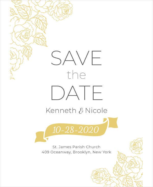 save the date wedding invitation template1