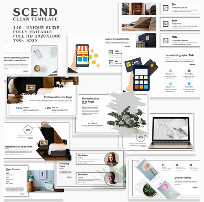 scend clean powerpoint template 788x777
