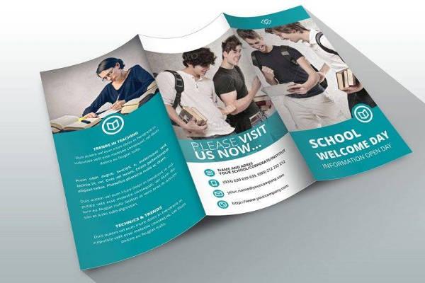school brochure adobe indesign template