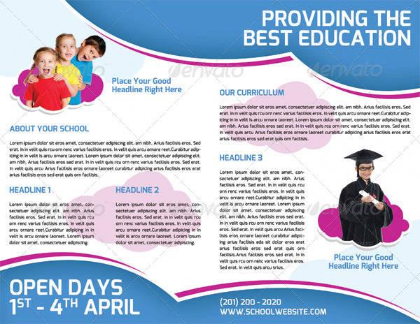 school promotion bi fold brochure