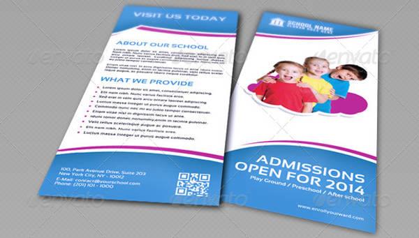school promotion tri fold brochure