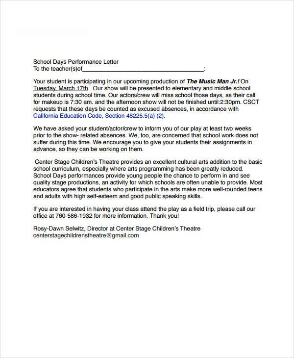school release letter
