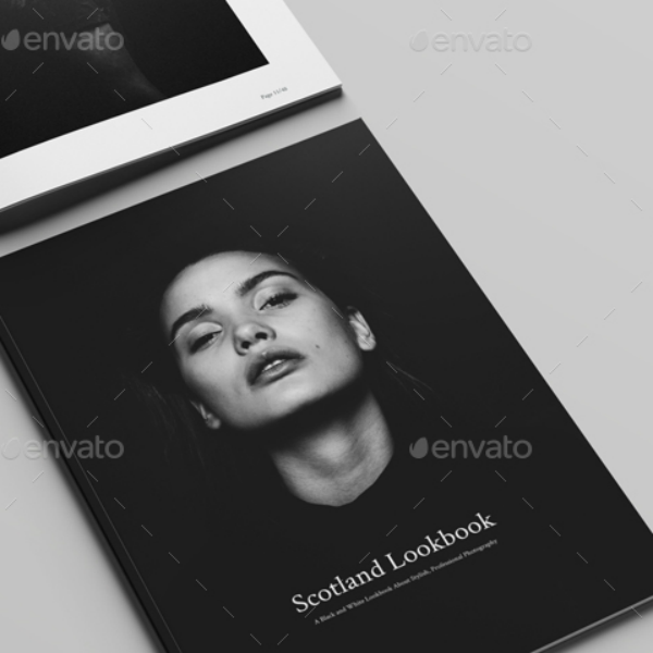 Scotland Monochrome Lookbook Template