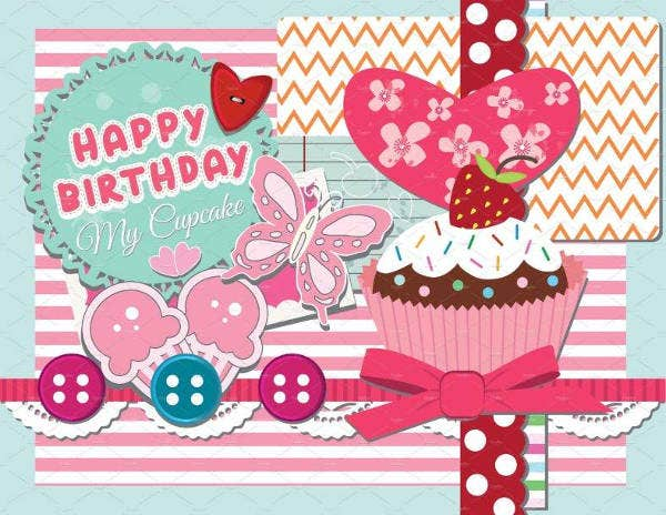Scrapbook Happy Birthday Card