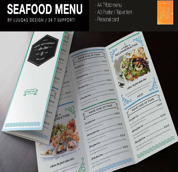 Seafood Starter Menu Design