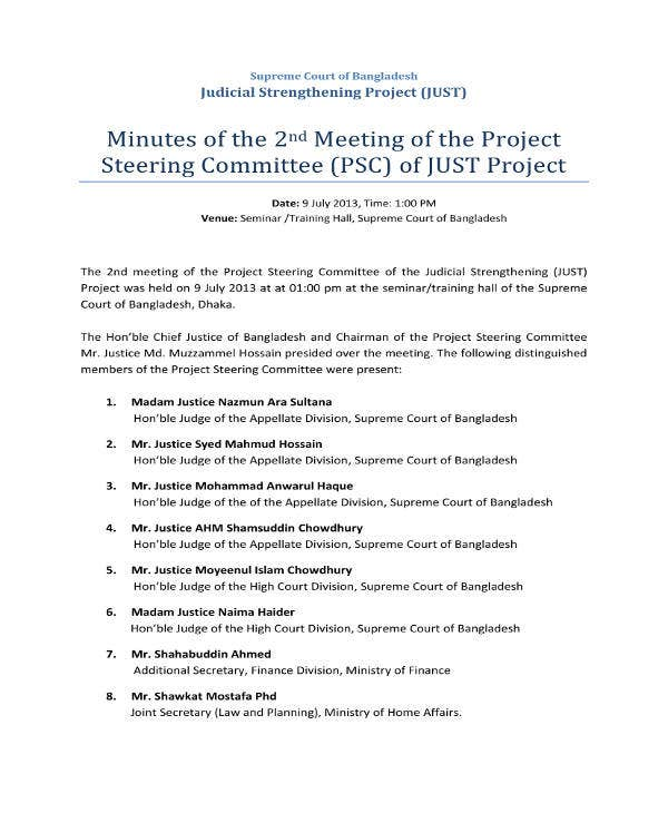 second-project-meeting-minutes