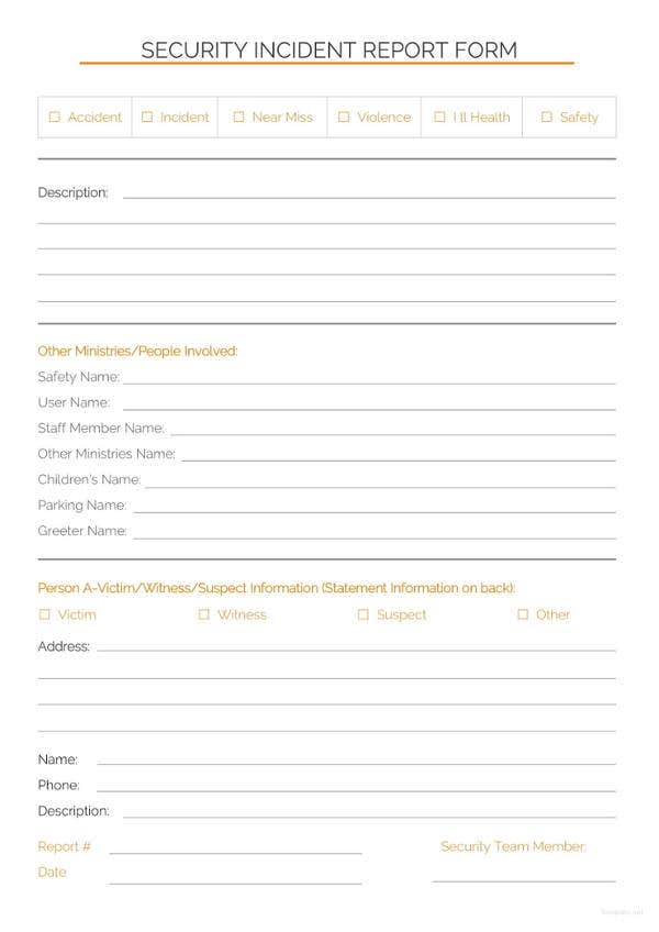 Incident Report Template - 37+ Free Word, PDF Format Download | Free ...