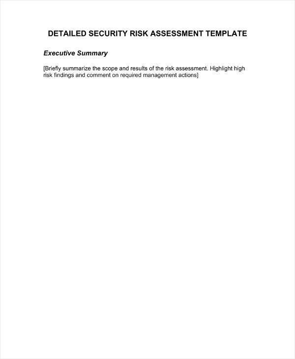 Security Assessment Template: 12+ Vulnerability Assessment Templates