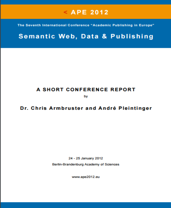 semantic web data and publishing short conference report