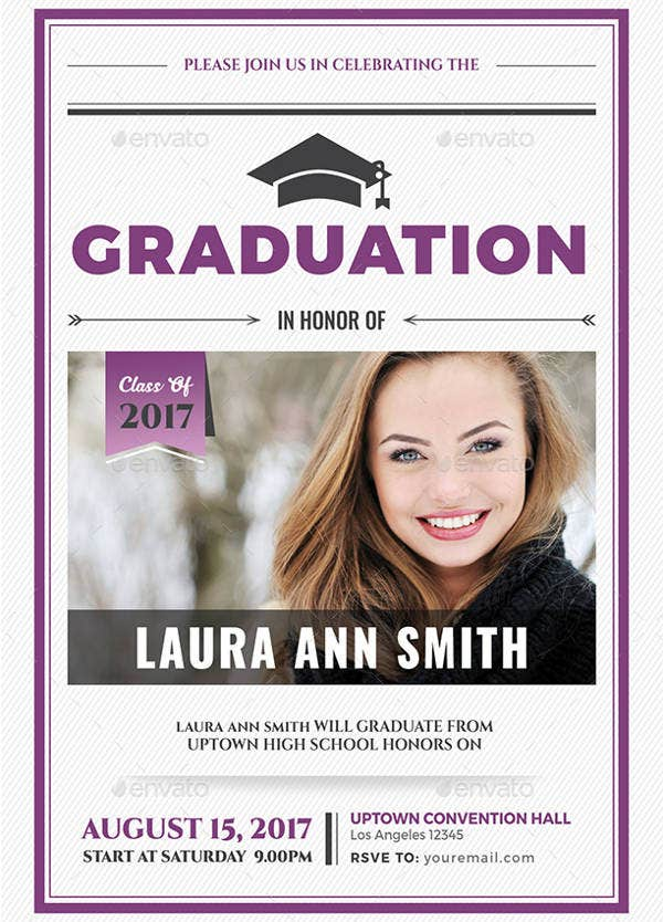 Simple College Graduation Invitation