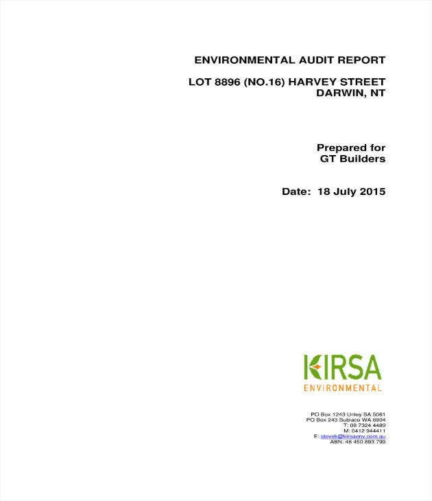 Simple Environmental Audit Report