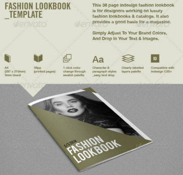 simple fashion lookbook template