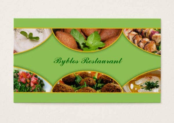 Simple Food Business Card