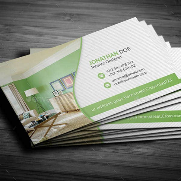 21 interior design business card templates ai ms word psd free premium templates for Interior designers business cards
