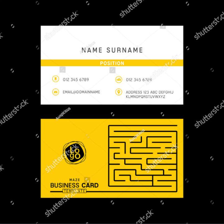 simple-maze-business-card-template