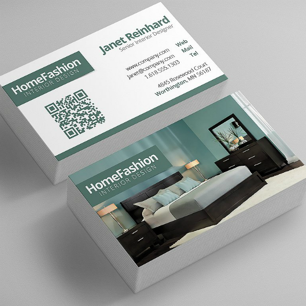 Simple Modern Interior Design Business Card