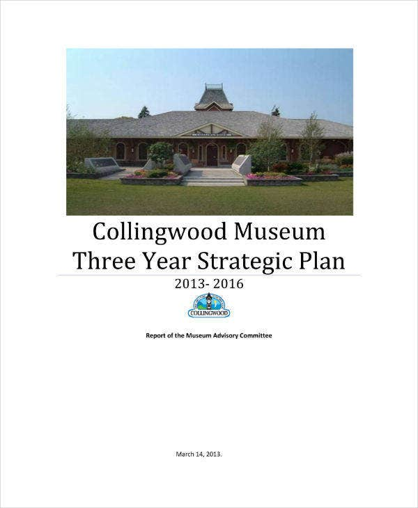Simple Museum Strategic Plan Sample