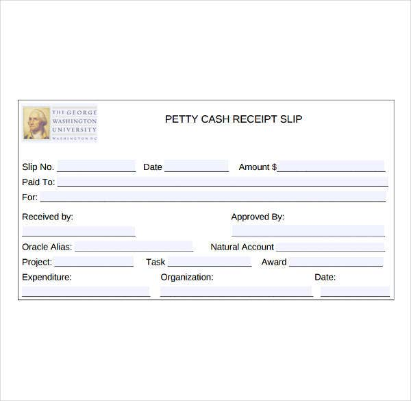 8  petty cash receipt template