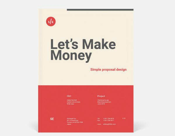 Simple Proposal Design Brochure Template