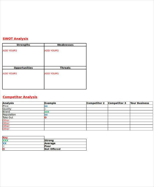 simple restaurant swot analysis template1