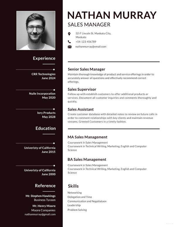 12 cv templates for job application pdf psd doc ai publisher simple resume template wajeb Choice Image
