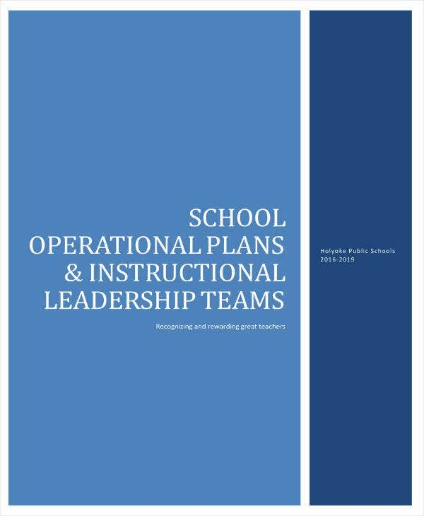 6 School Operational Plan Templates Pdf Free Premium Templates
