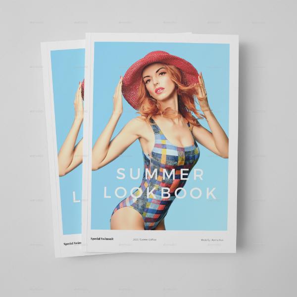 simple summer lookbook template