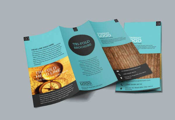 Simple Trifold Vertical Brochure Template