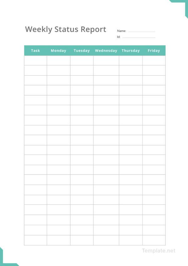 simple weekly status report